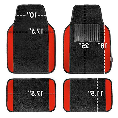 FH Group F14407RED Full Set Mat