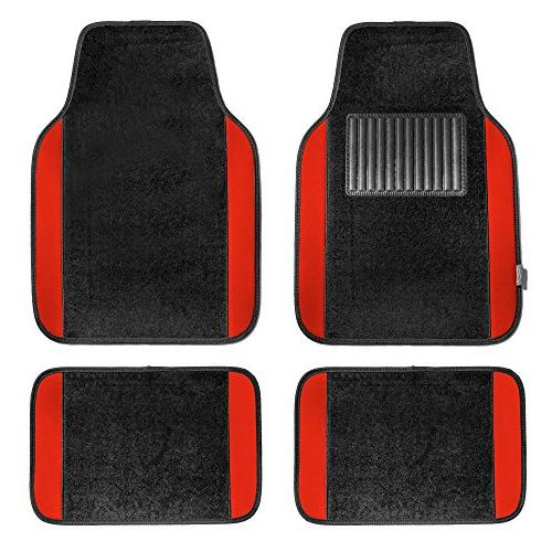 f14407red premium full set carpet floor mat