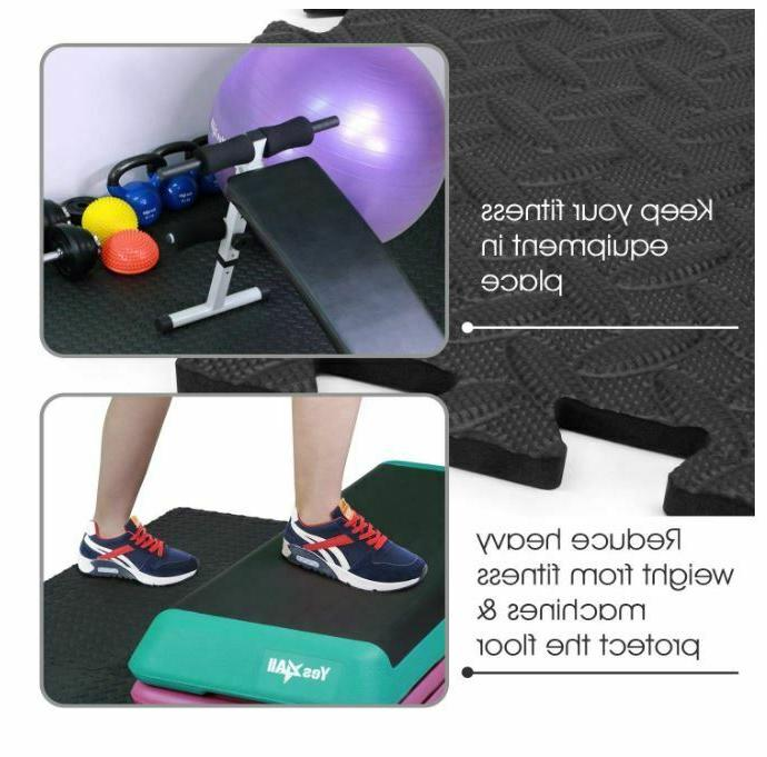 Floor Mat Exercise RUBBER FLOORING Garage Home Fitness Mats