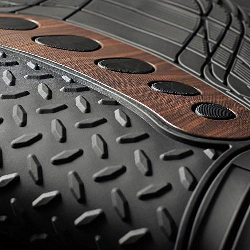 FH Tall F11310BLACK Floor Mat Black Brown Set Trim Fit