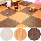 9pcs Imitation Wood Foam Exercise Household Floor Mats Kids