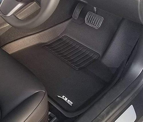 3D All-Weather Floor Liners Tesla Dual Motor & 2 Front Seats, Rear Seat