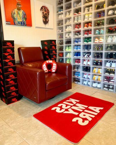 kiss my airs red sneaker inspired floor