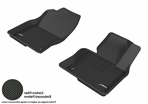 3D MAXpider Complete Set Custom Fit All-Weather Floor Mat for Select Kia Soul Models Black Kagu Rubber
