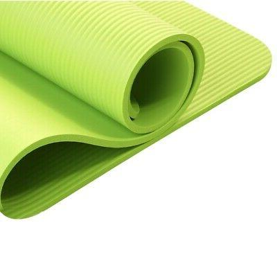 Large Thick Foam Floor Exercise Mat NBR Pilates FitnessNew