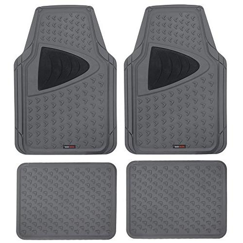 motortrend cleanrubber series gray grid two tone