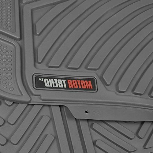 Motor Trend Durable Flexible Car Mats 3 Rows, Eco Liners, Extra-High Ridgeline