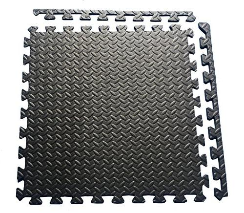 Ottomanson Exercise Puzzle Tiles Interlocking Foam Tiles Ft.