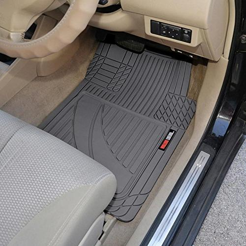 Motor Trend OF-793-GR FlexTough Advanced Performance Floor Mats Car SUV All Weather Plus-2 & Liner