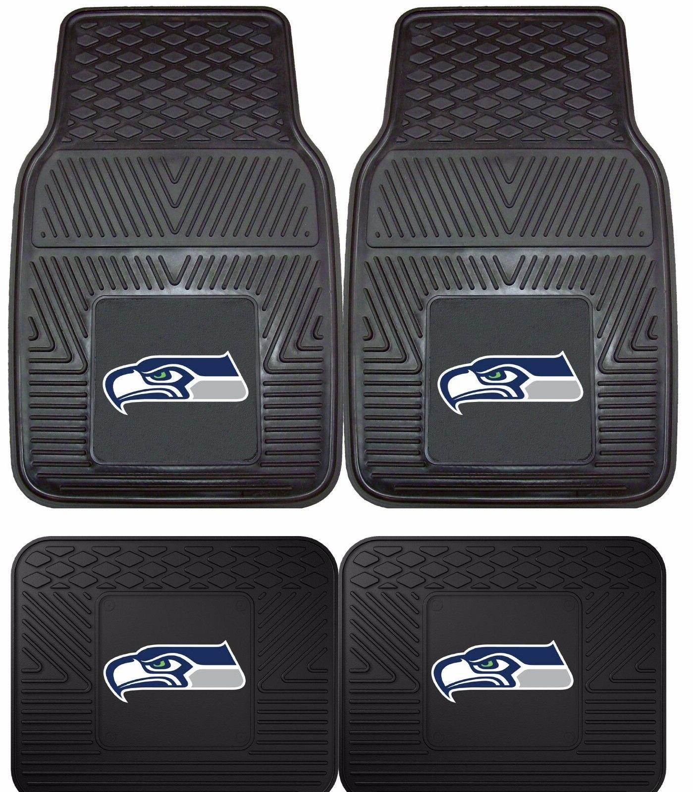 Seattle Seahawks Heavy Duty Floor Mats 2 & 4 Pc Sets for Car