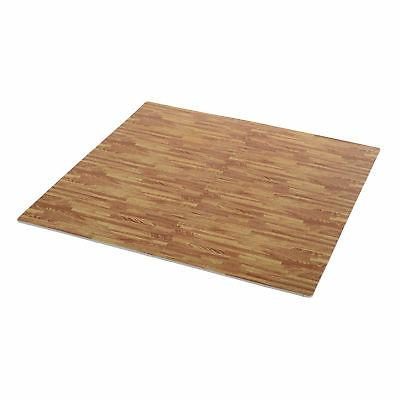 Soozier Grain Interlocking Floor Mats EVA