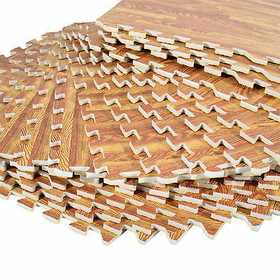 Soozier SqFt Grain Interlocking Mat