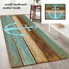 Vintage Retro Nautical Anchor Bathroom Rug Nonslip Kitchen F