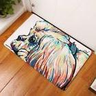 YJBear Thin Colorful Puppy Dog Pattern Floor Mat Coral Fleec