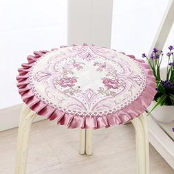 Lace Round Seat Cushion, Dining Chair Non-Slip Breathable Ch