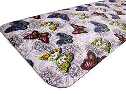Butterfly Long Kitchen Mat Stylish Anti Fatigue Comfort Floo