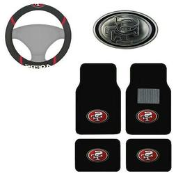 New NFL San Francisco 49ers Car Truck Floor Mats Steering Wh