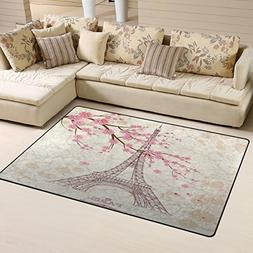Yochoice Non-slip Area Rugs Home Decor, Vintage Paris Eiffel