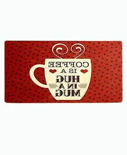 Novelty Vintage Polka Dot Cushioned Floor Mat Coffee Cup Kit