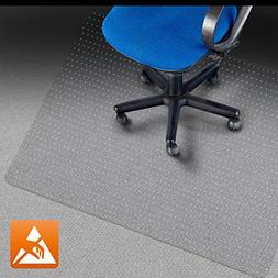"""Marvelux 36"""" x 48"""" Polycarbonate  Lipped Chair Mat for Hard"""