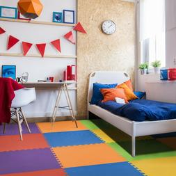 IncStores - Rainbow Foam Tiles  - 2ft x 2ft Interlocking Foa