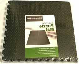 Rainforest 24 Sq Ft EVA Foam Floor Mat Interlocking Exercise