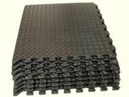 "Rainforest 25.68 Sq Ft 1/2""EVA Foam Floor Mat Interlocking E"