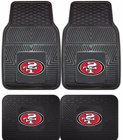 San Francisco 49ers Heavy Duty Floor Mats 2 & 4 Pc Sets for