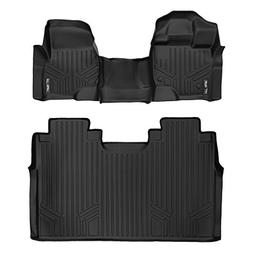 SMARTLINER Floor Mats 2 Row Liner Set Black for 2015-2018 Fo