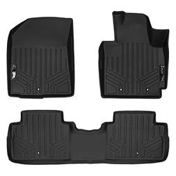 SMARTLINER Floor Mats 2 Row Liner Set Black for 2014-2018 Ki
