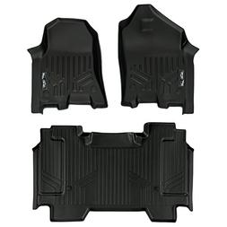 SMARTLINER Floor Mats 2 Row Liner Set Black for 2019 Ram 150