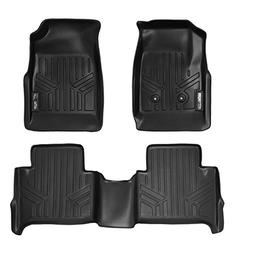 SMARTLINER Floor Mats 2 Row Liner Set Black for 2015-2018 Ch