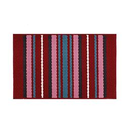 YK Decor Striped Door Mat Inside Non Slip Entrance Floor Mat