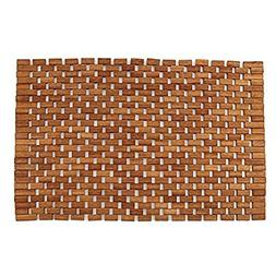 Teak Bath Floor Shower Mat - Solid OR Foldable - Indoor/Outd