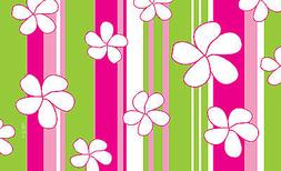Toland Flowers and Stripes 18 x 30 Decorative Pink Green Flo