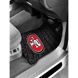 "W-M 2 Piece 29"" X 17.5"" NFL 49ers Mat Set Car Floor, Footbal"